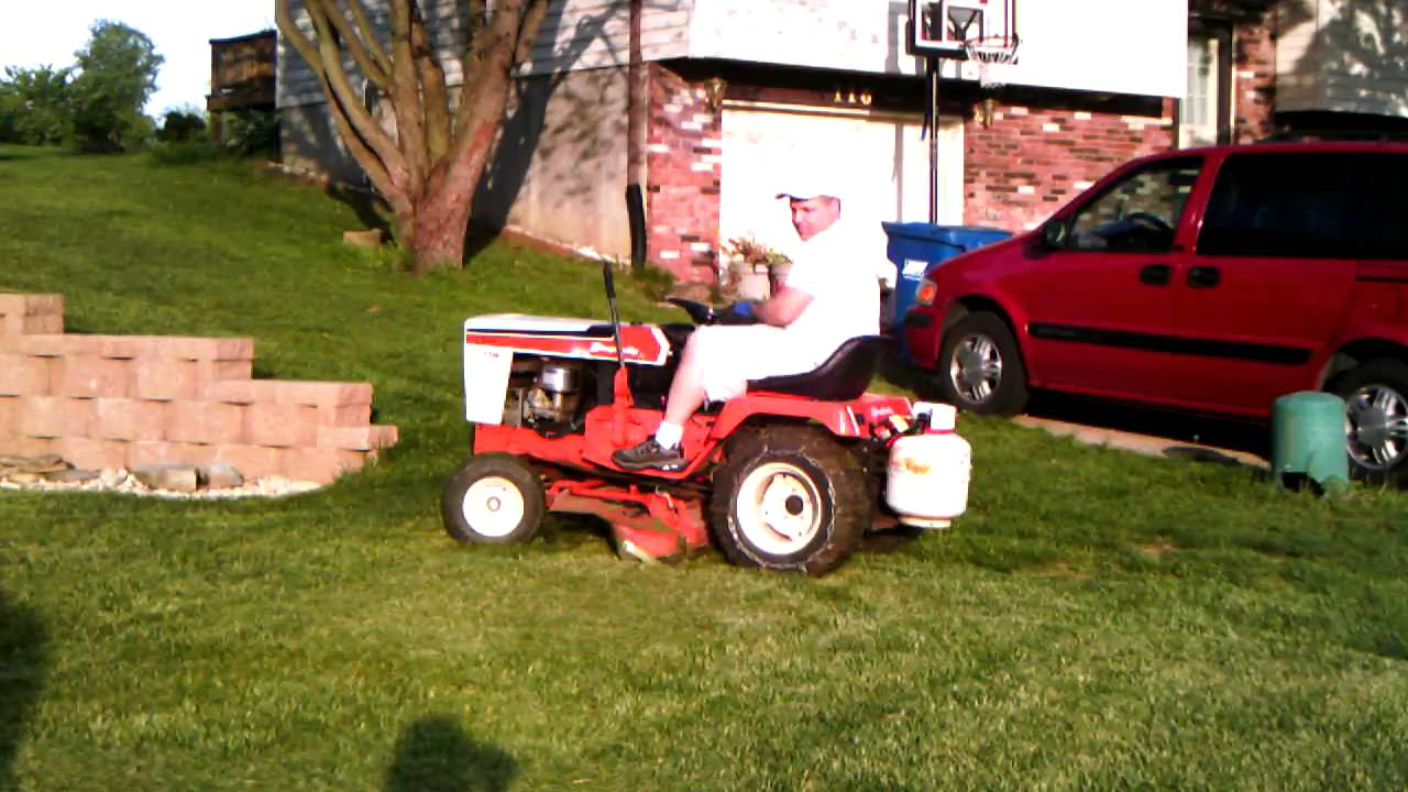 Riding Lawnmower Dan's Propane Powered Lawn Mower - Youtube