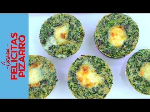 Muffins de Espinaca & Queso   Felicitas Pizarro