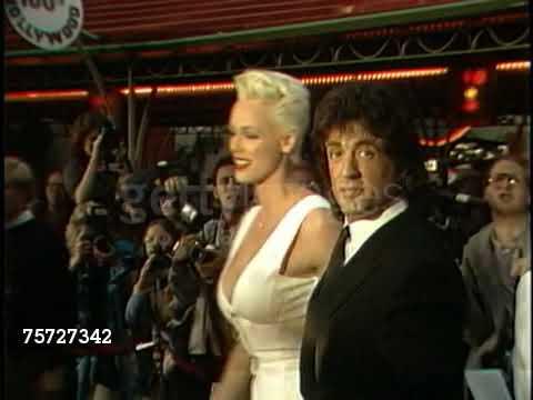 Sylvester Stallone with Brigitte Nielsen 1987
