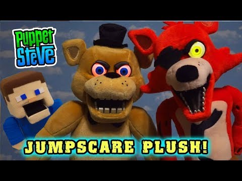 FNAF Animatronic JUMPSCARE PLUSH! Five Nights at Freddy's Funko Freddy & Foxy Unboxing