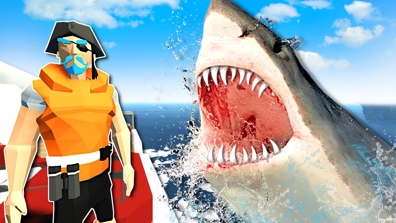 There's a MEGALODON SHARK after me! - Stormworks Gameplay