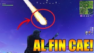 AT THE END THE METEORITE OF FORTNITE NEW SEASON NEW SKINS AND MORE