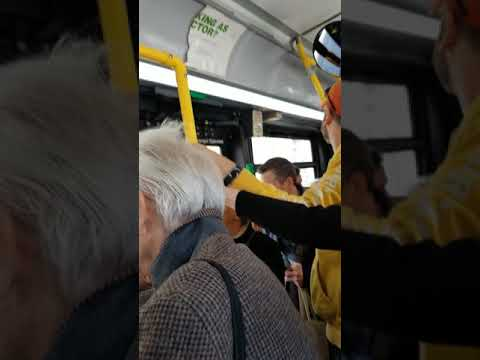 Touching hands on a bus - YouTube