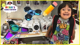 Back to School Shopping and Fidget Spinner Toy Hunt with Ryan