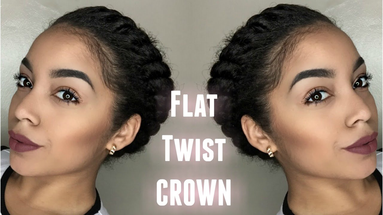 Flat Twist Crown Protective Style Youtube