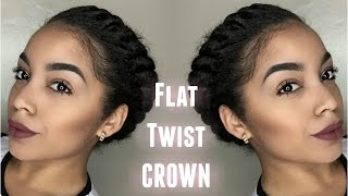 flat twist crown protective style