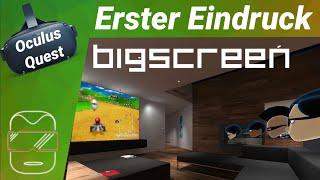 Oculus Quest - Bigscreen VR Beta: Erlebe einen virtuellen Kinobesuch! (deutsch) Review / Test