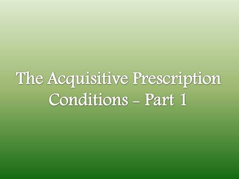 International Law - Lecture 7: The Acquisitive Prescription Conditions - Part 1