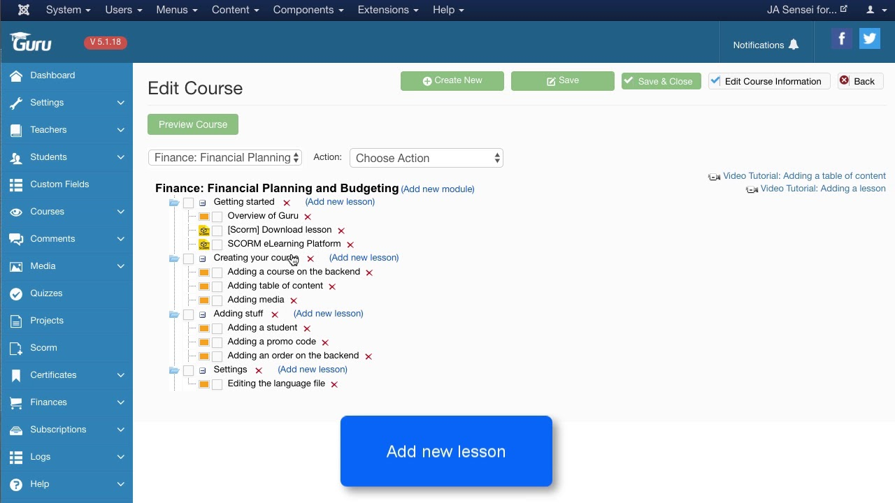 Scorm - Joomla LMS - LMS for Joomla eLearning | Create University