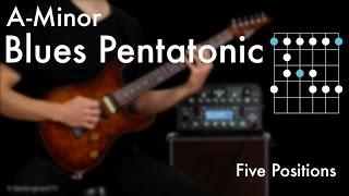 Am Blues Pentatonic - Five Positions