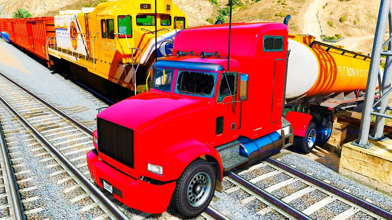 Color Truck In Trouble With Trains Nursery Rhymes Songs Youtube