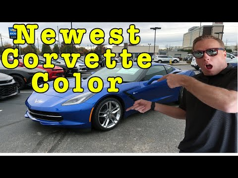 Corvette Elkhart Lake Blue up close and side by side review with Laguna Blue