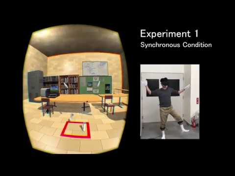 Your body is transparentized in a virtual environment