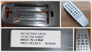 Philips DVD Original OEM Remote Control RC19133011/01H For DVD625