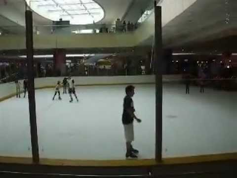 Ice skating at the Mall of Asia, Manila