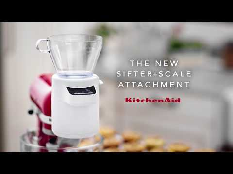 Introducing The New KitchenAid® Sifter + Scale Attachment