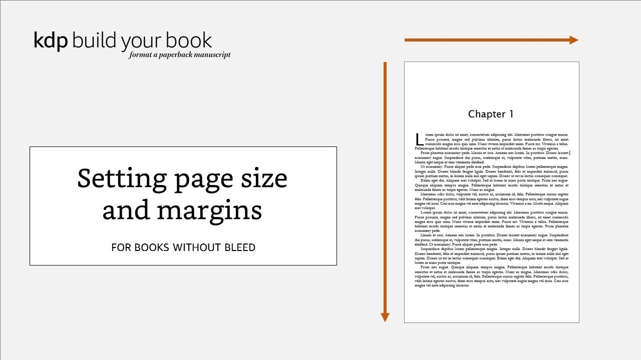 Setting page size and margins: For books without bleed