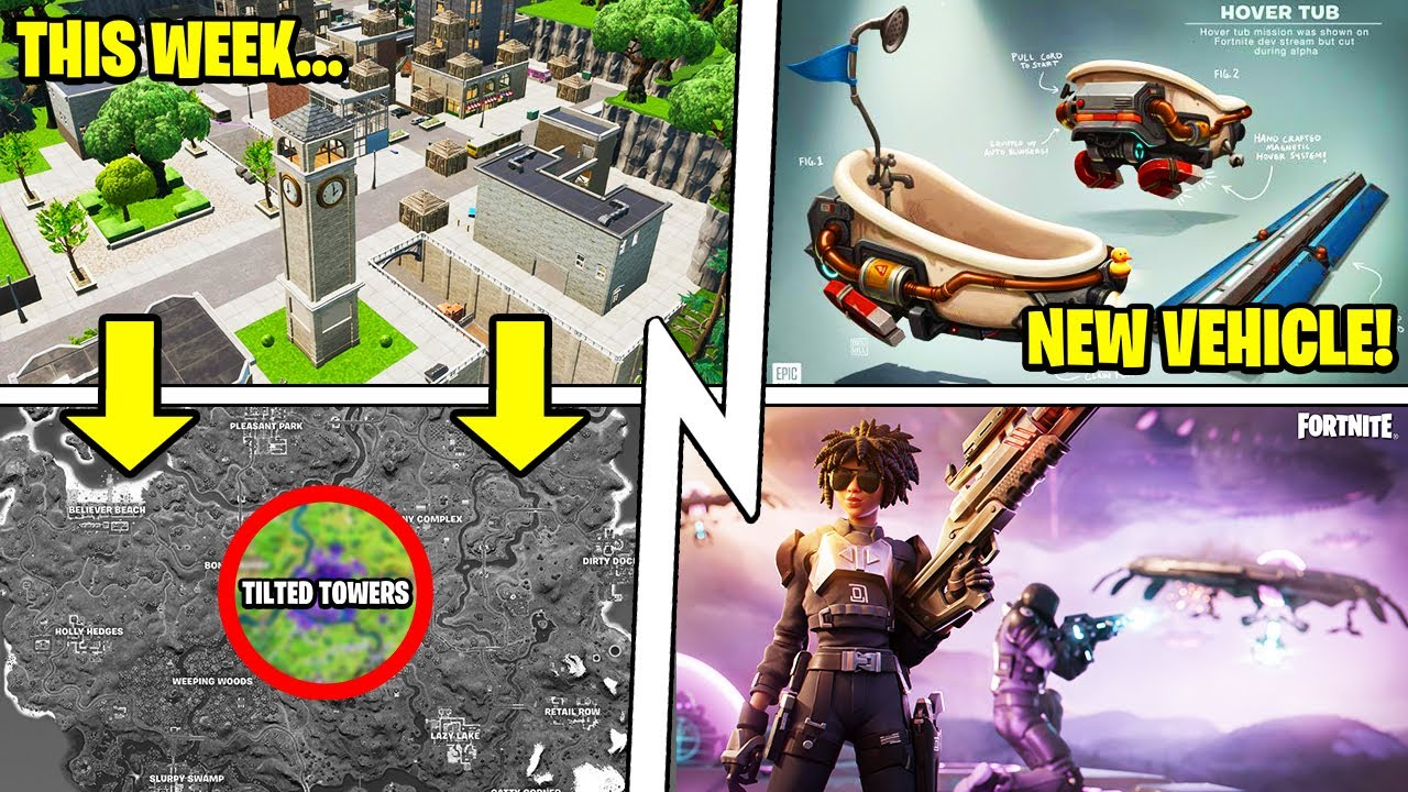 FIRST Update: Tilted Towers Middle POI, New VEHICLE, Inside the Mothership!