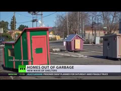 TINY Houses California HOMELESSNESS Gets New 40 SOLUTION YouTube