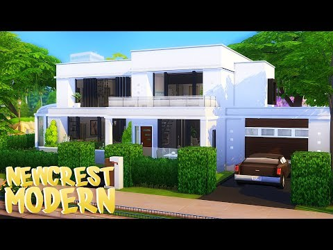 SIMPLE NEWCREST MODERN HOUSE   The Sims 4   Speed Build