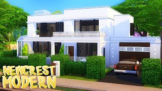 SIMPLE NEWCREST MODERN HOUSE | The Sims 4 | Speed Build