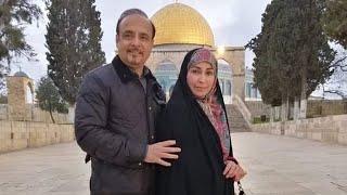 #ReemaKhan and her husband visited Masjid Al Aqsa palestine.
