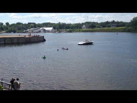 Cardboard boat race final, Pugwash HarbourFest 2016