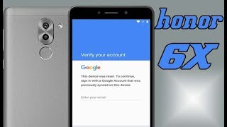 Huawei Honor 6X Bypass Google Account Android 7 BLN L21