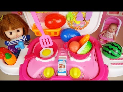 Ba doll kitchen cooking and surprise eggs ba Doli play
