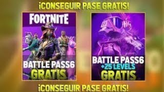 How to have the *BATTLE PASS* FOR FREE SEASON 6 (FORTNITE)