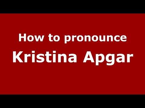 How to pronounce Kristina Apgar American EnglishUS  PronounceNames.com