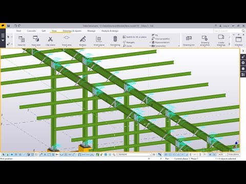 How to Create a Fuel Station Canopy | Tekla Structures 2017