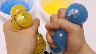 Diy Doraemon Slime Mesh Squishy Ball