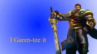 get dunked! I Garen-tee it. [League of legends commentary]