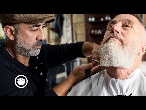 Master Barber Gives Stylish Haircut And Beard Trim | Cut & Grind