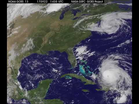 Hurricane Maria almost reaches US Mainland !! Satellite Animation