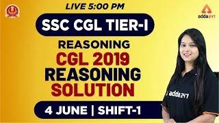 SSC CGL Tier 1 2019   Reasoning   CGL 2019 Reasoning Solution   4th June