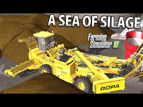 A SEA OF SILAGE | Farming Simulator 17 | Oakfield Farm - Episode 51