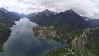 Aerial Shots - Lethbridge, Head Smashed In Buffalo Jump & Waterton Lakes
