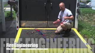 Fire Engineering Training Video  One Rope Two Anchor Systems