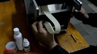 Заправка этикетки в полуавтоматический этикетировщик АЭ-1(На видео показан процесс установки этикетки в модуль. Весь процесс работы ручной этикетировочной машины..., 2016-04-28T13:30:18.000Z)