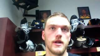 Mattias Ekholm speaks after first NHL point