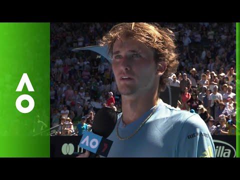 Alexander Zverev on court interview (1R) | Australian Open 2018