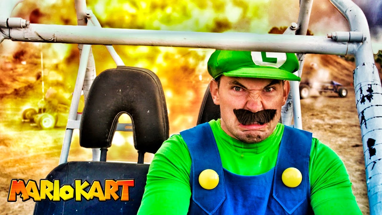 Mario Kart in Real Life - Luigi Death Stare!