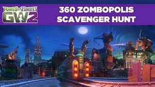 360 Zombopolis Scavenger Hunt! | Plant vs. Zombies Garden Warfare