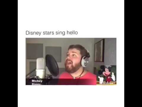 Mickey Mouse voice actor sings Hello by adele in characters voices