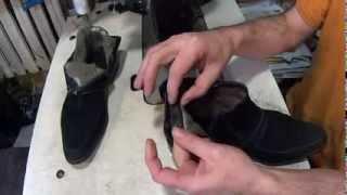 Как поменять меховой задник. Видео уроки. Ремонт обуви.