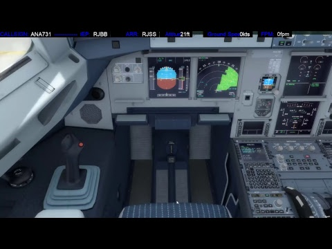 [P3D] TrackIR Full flight | OSAKA-SENDAI | Aerosoft A320 | Prepar3D with PRO ATC X