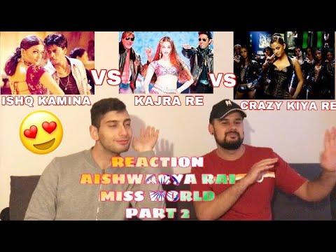 GERMAN Bollywood Reaction to Miss World Aishwarya Rai - Ishq Kamina - Kajra Re - Crazy Kiya Re