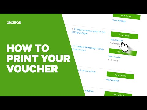 How to Print a Groupon Voucher